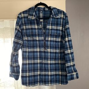 Plus Size Chaps flannel pullover